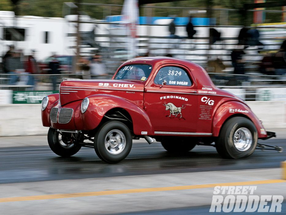 willys drag racing race track hot rods retro wallpaper