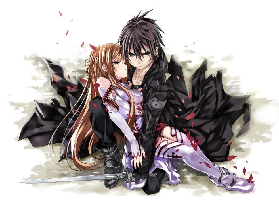 Sword Art Online 2012 Girls Guys love romance anime wallpaper
