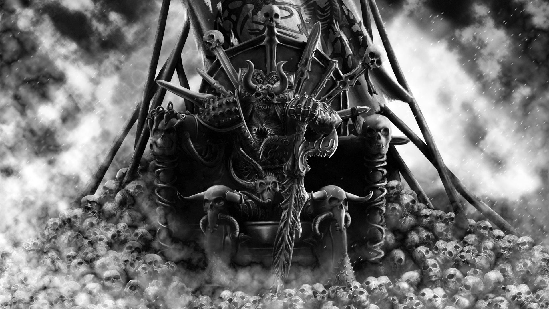 Warrior skulls king wallpaper 1920x1080 37930 - King wallpaper ...