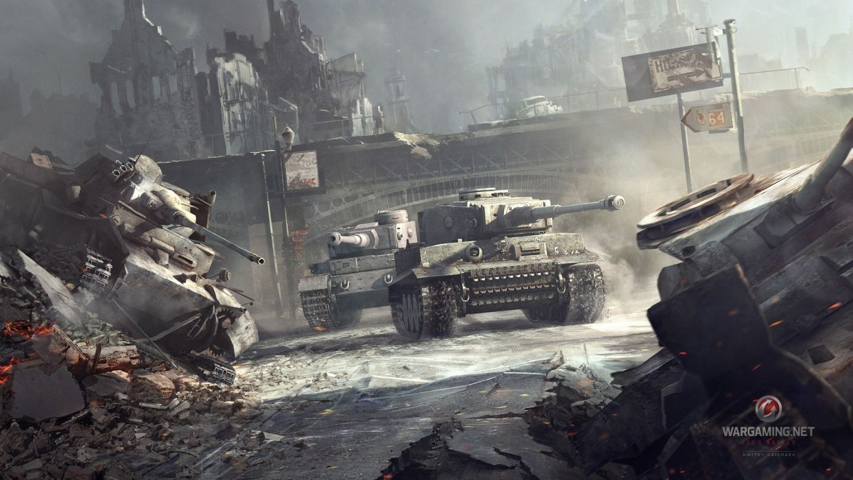 World of tanks military weapons battles war destruction decay ruins cities wallpaper