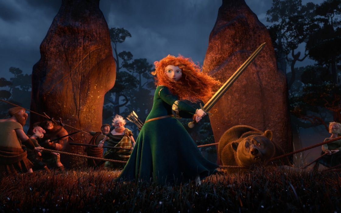 Braveheart movies animation fantasy weapons sword girl wallpaper