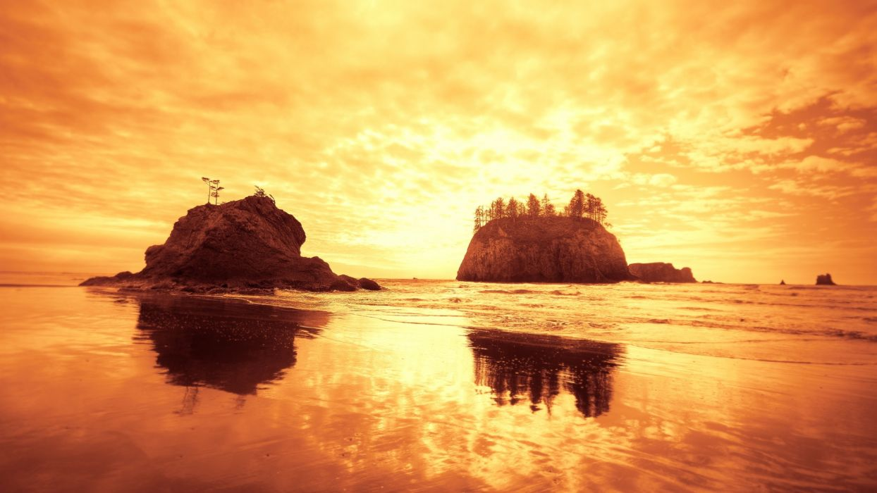 beaches ocean sea sunset sunrise islands wallpaper