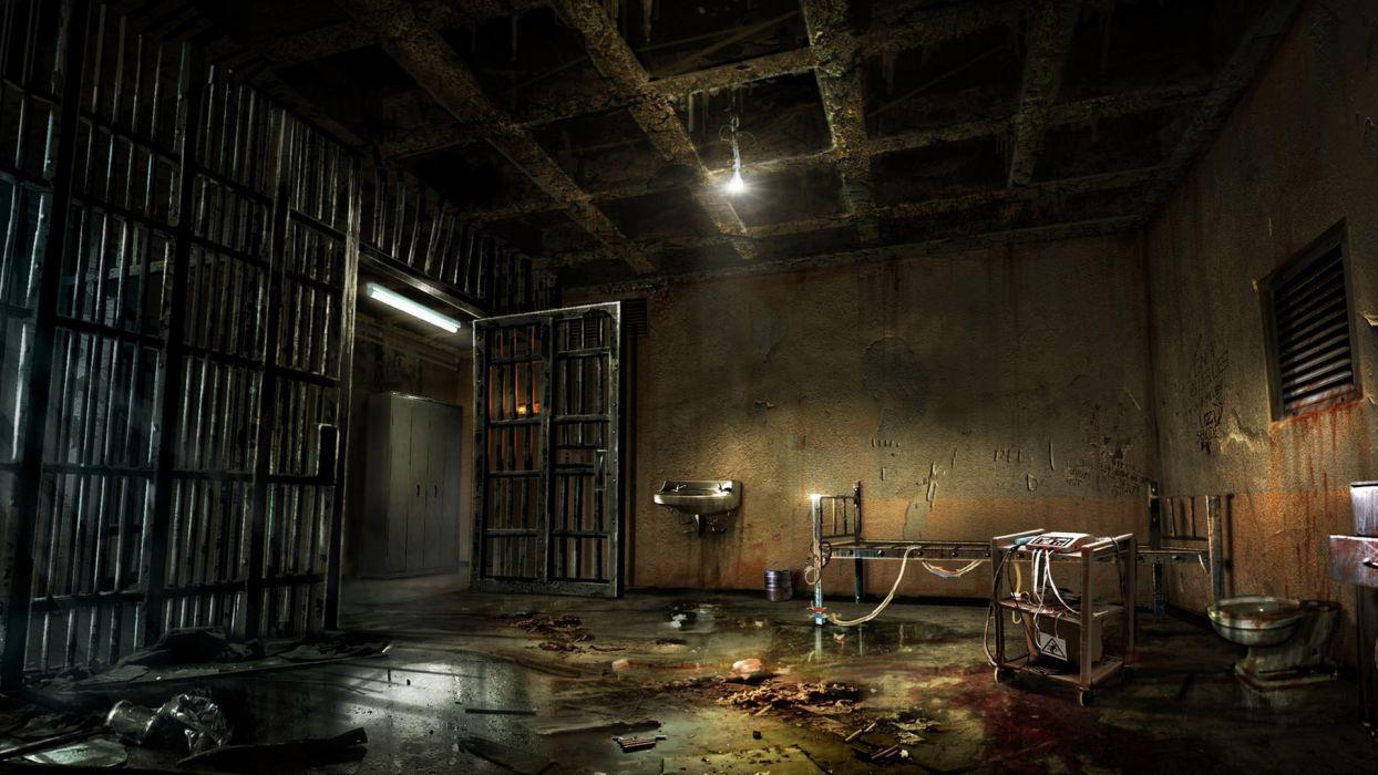 evil art cage macabre scary spooky creepy wallpaper