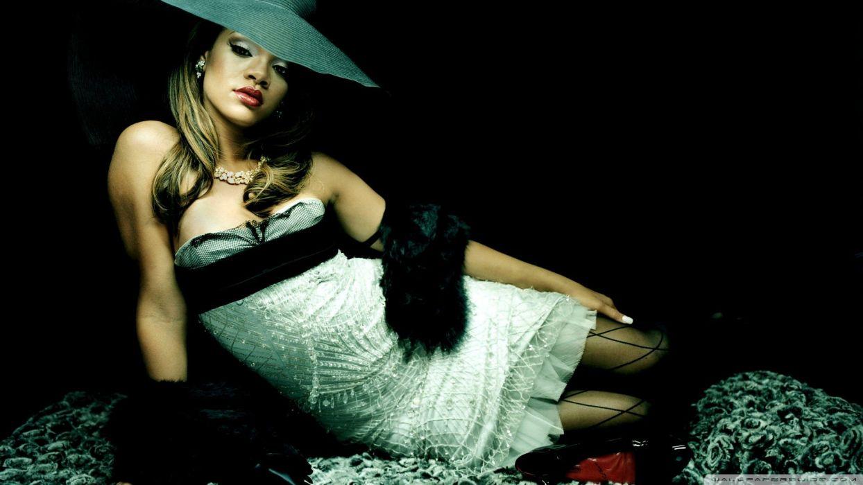 Rihanna singer musicain women models brunettes sexy babes wallpaper