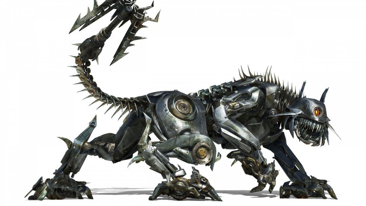 Robot steampunk animals cats mecha wallpaper