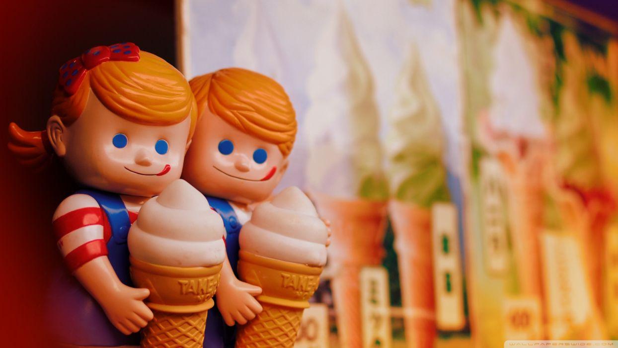 toys children dolls food ice cream cute wallpaper