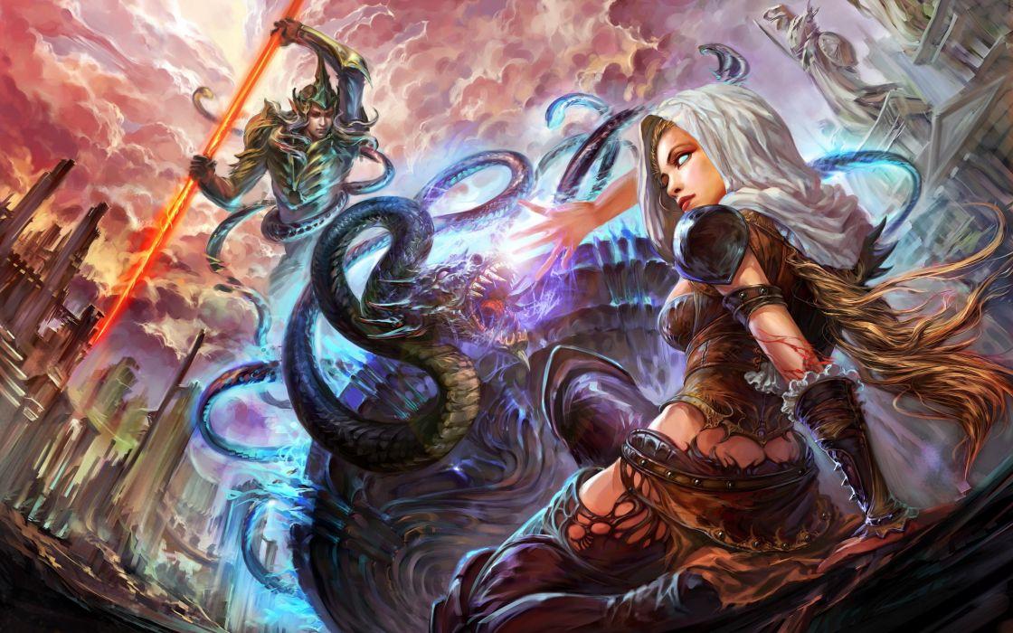Forsaken World Shenmo Online Girls Fantasy Elves wallpaper