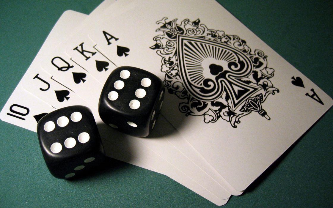 Game poker cards dice  wallpaper