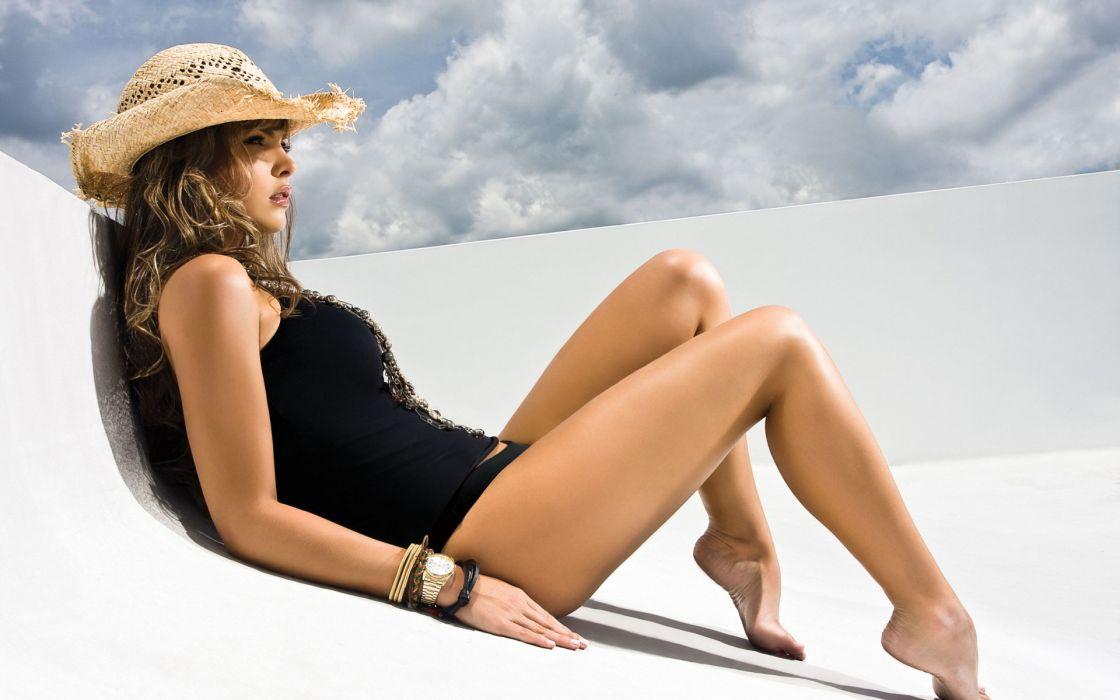 Melissa Giraldo brunette babes swimwear  wallpaper