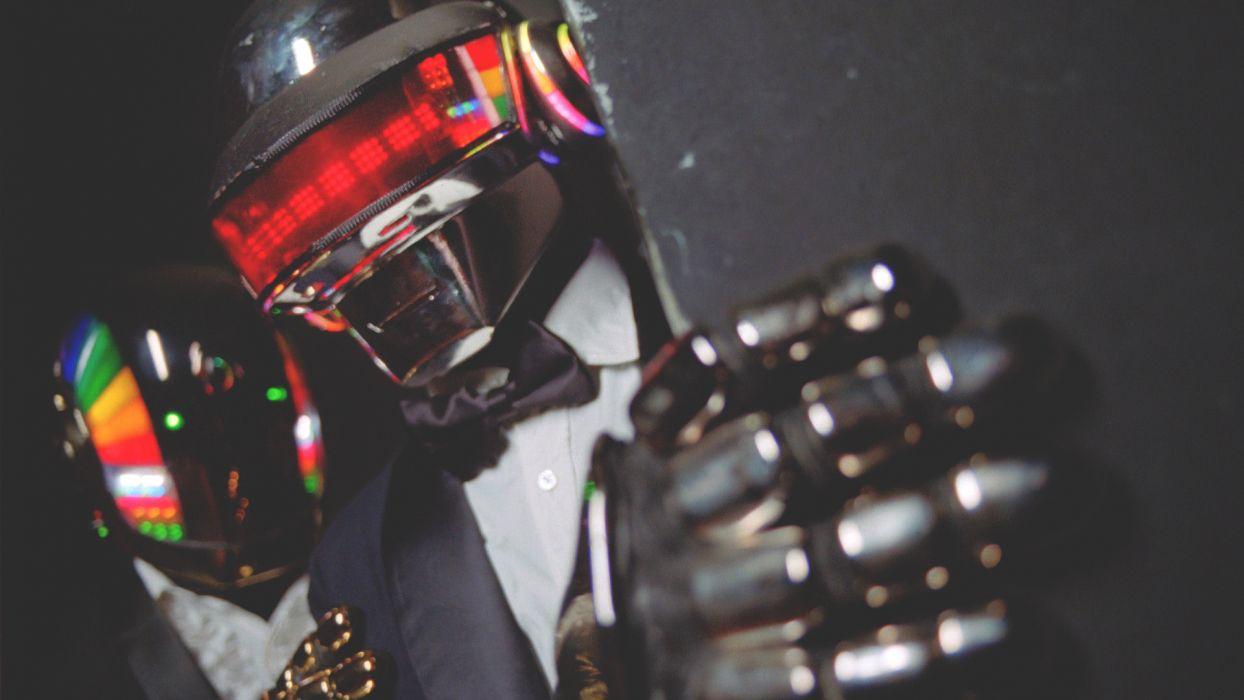 Daft Punk electronic music costume uniform mask aliens wallpaper