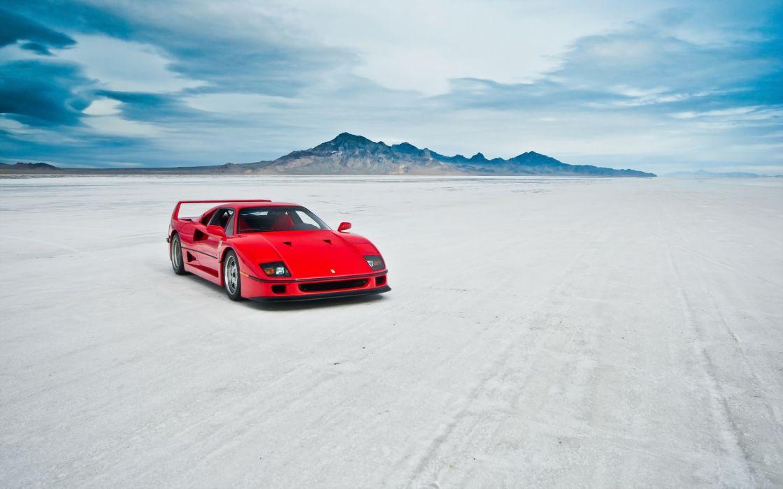 ferrari f40 auto vehicles supercars salt wallpaper