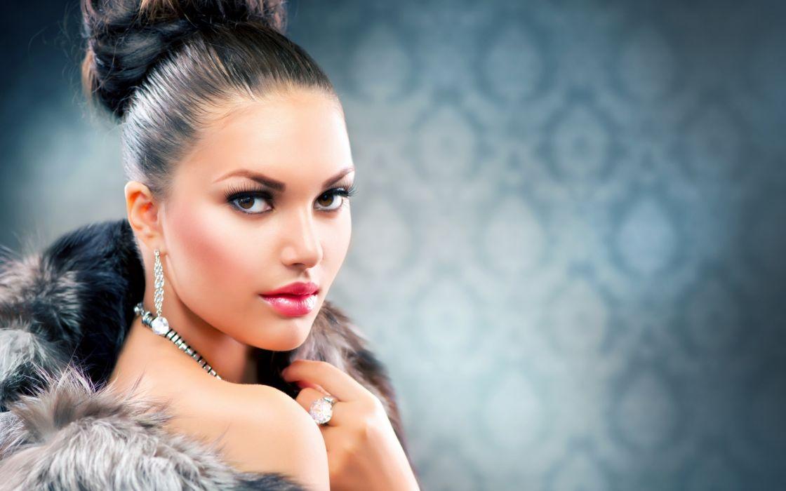 women fashion glamour models brunettes babes face eyes pov girl females wallpaper