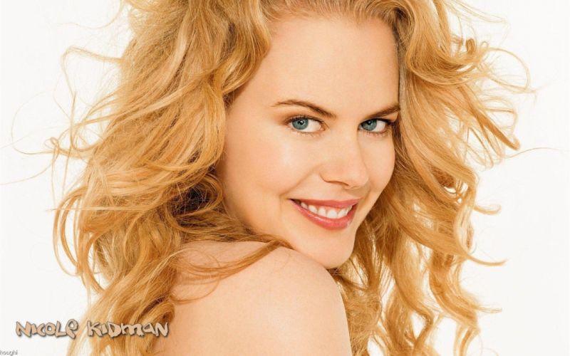 Nicole Kidman actress women females girls models blondes sexy babes face eyes pov a wallpaper