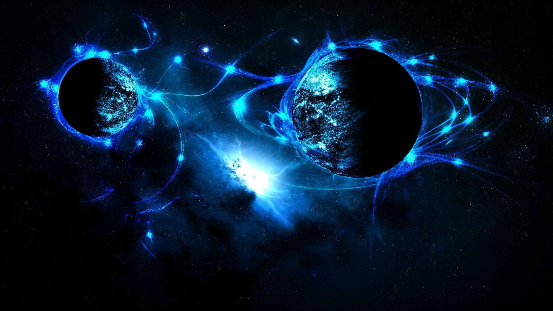 Sci Fi Outer Space Planets Stars Wallpaper