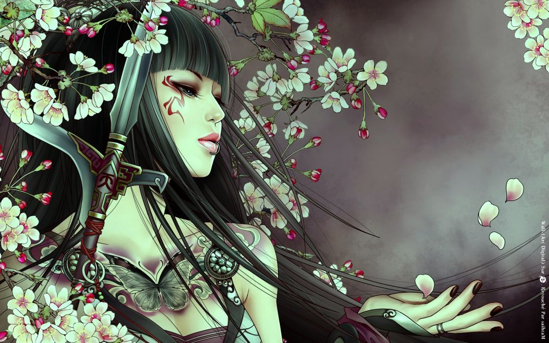 JX Online asian oriental women females girls babes tattoo fantasy wallpaper