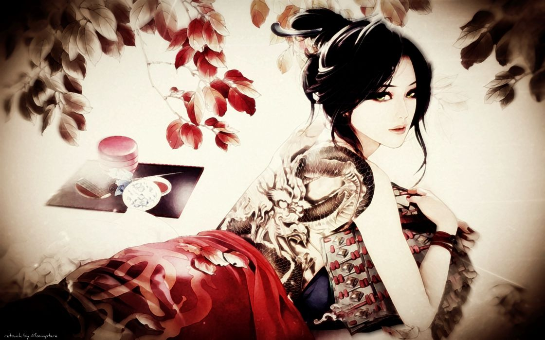 JX Online asian oriental women females girls babes tattoo fantasy wallpaper