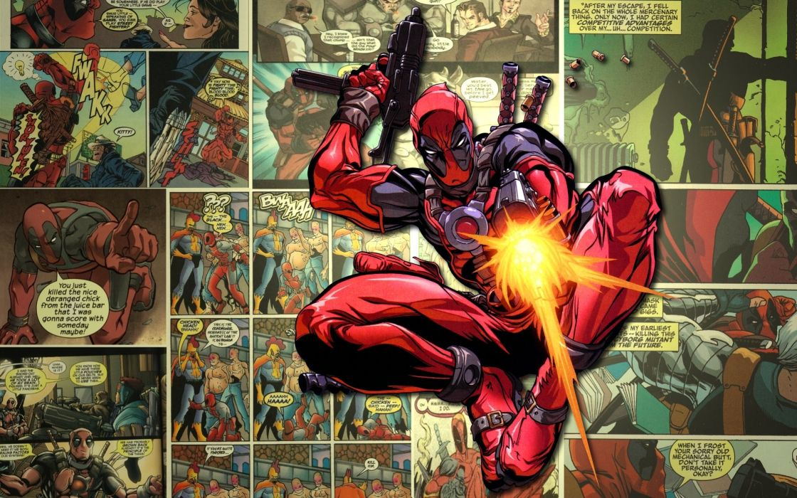 Deadpool Wade Winston Wilson anti-hero Marvel Comics mercenary wallpaper