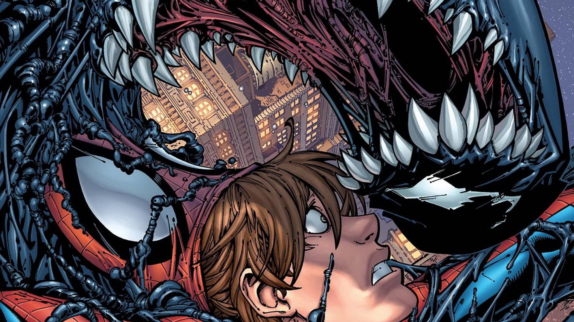 Человек паук и веном комикс 11 фотография