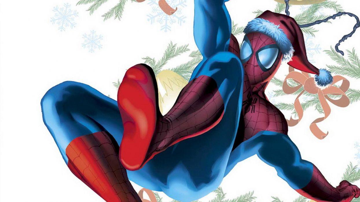 Spiderman comics spider-man superhero christmas wallpaper