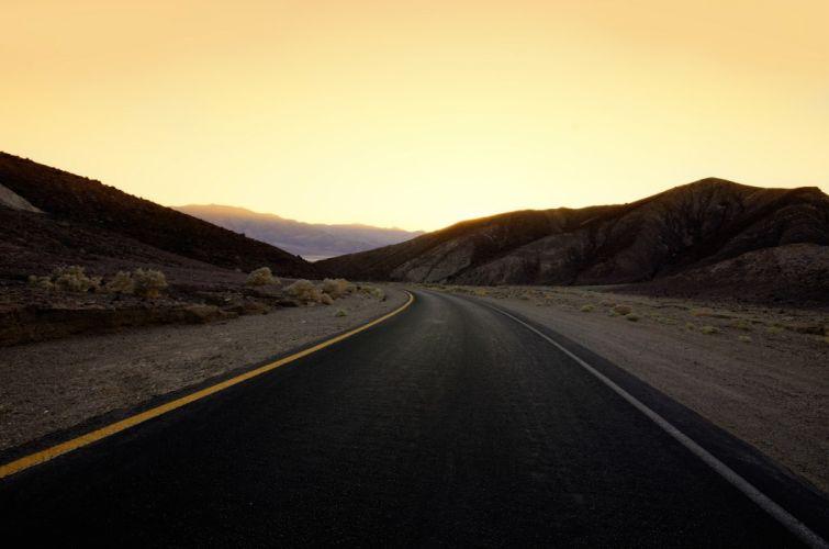 nature landscapes roads sky sunset sunrise wallpaper