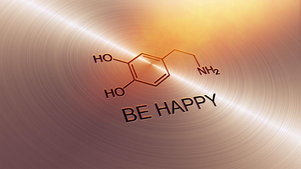 Dopamine Molecule drugs metal quote statement mood humor wallpaper