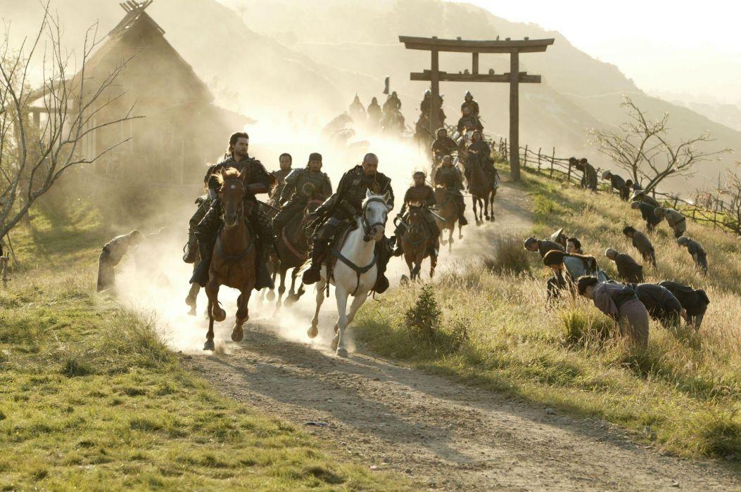The Last Samurai movies tom cruise weapons swords katana horses people wallpaper