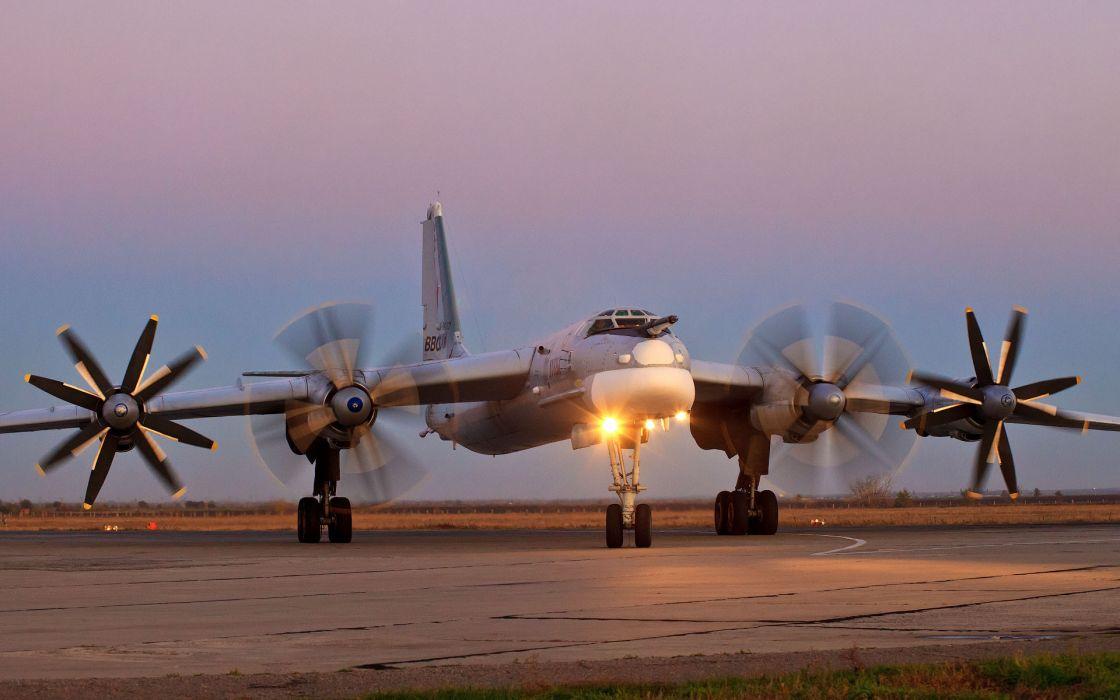 Tu-95MS military russia air force airplane wallpaper