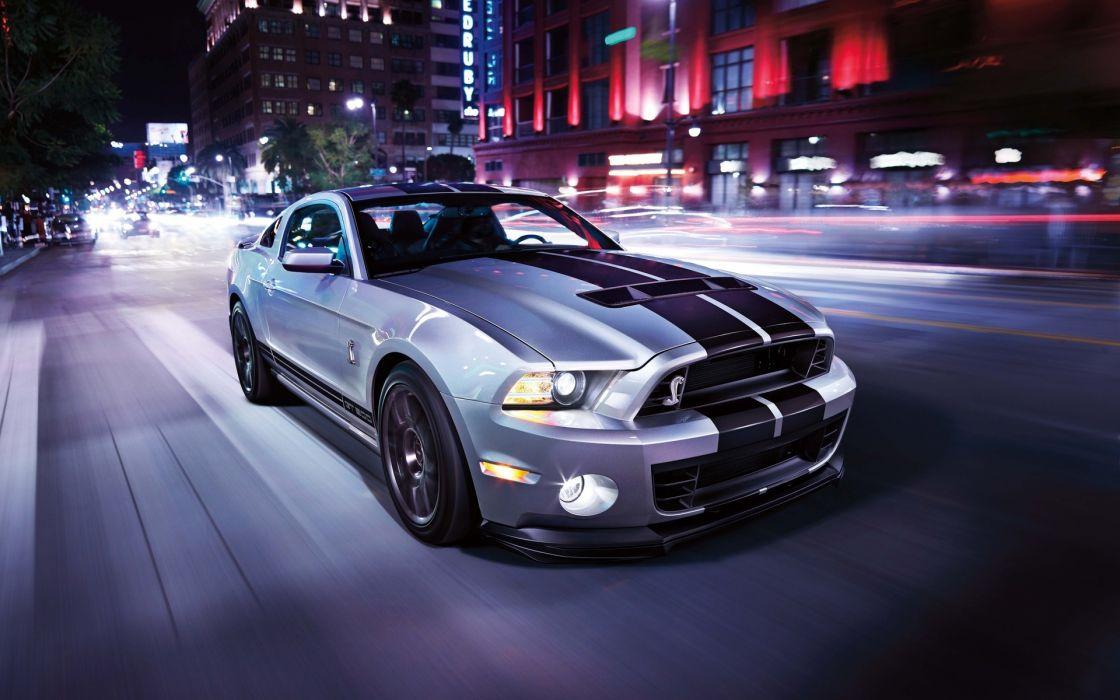 Ford mustang road cars city wallpaper