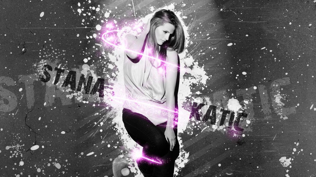 digital art stana katic photo manipulation castle tv series actress wome females babes wallpaper