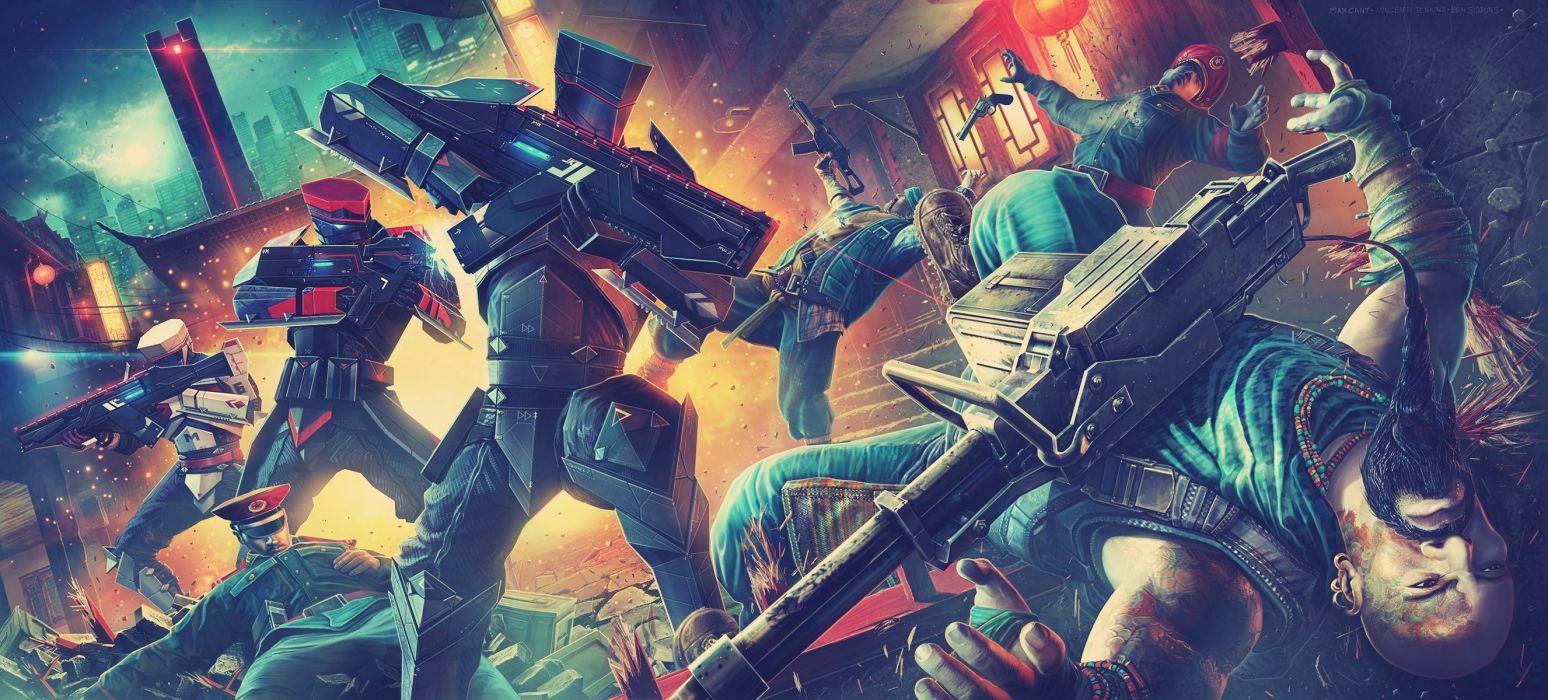 Bodycount video games weapons guns battle war mecha robots sci-fi futuristic wallpaper