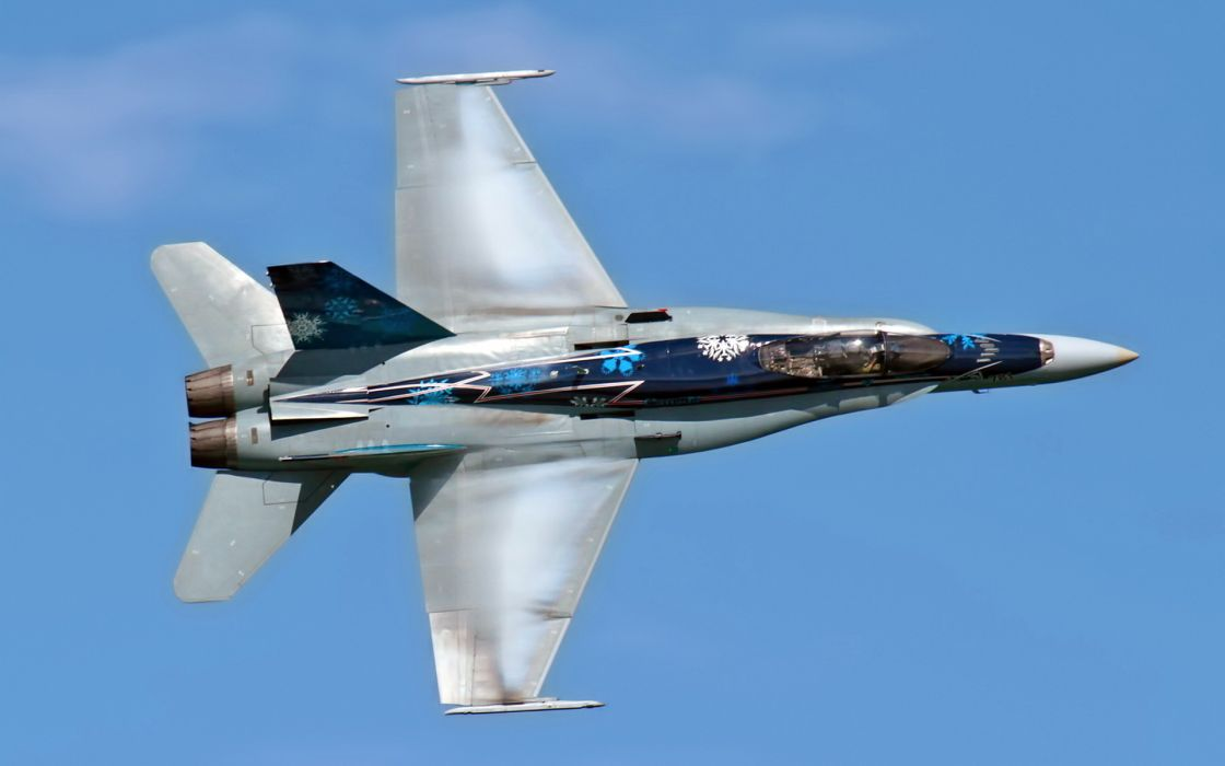 cf-18 hornet aviation airplane military air force flight fly sky weapons wallpaper