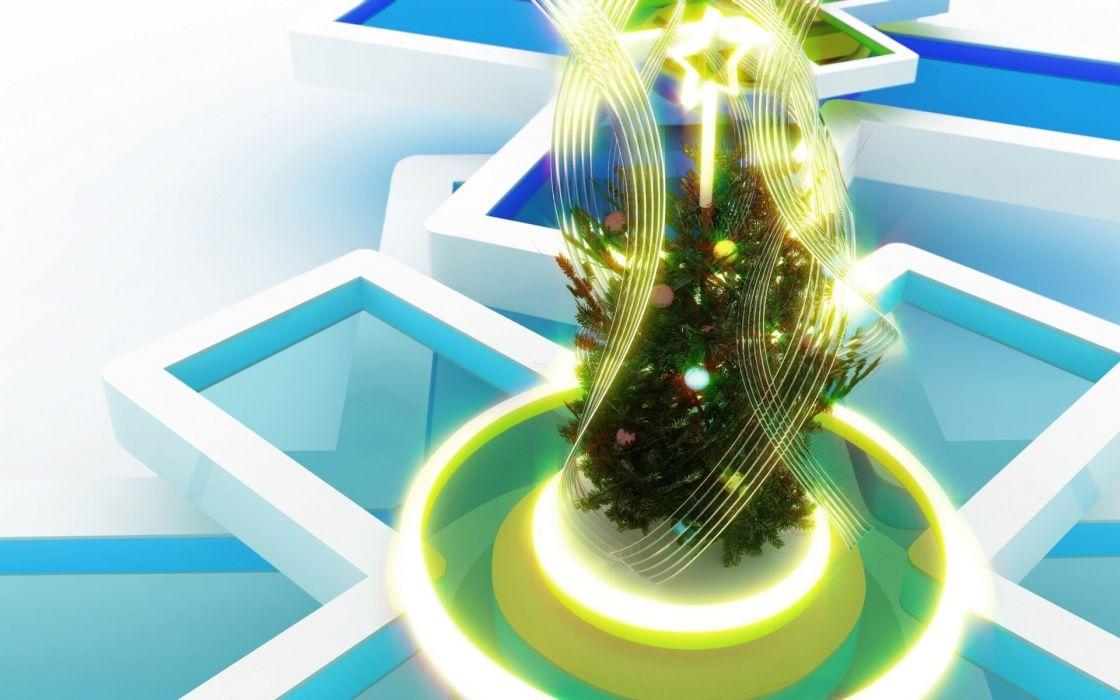 cg digital art 3d christmas new year wallpaper