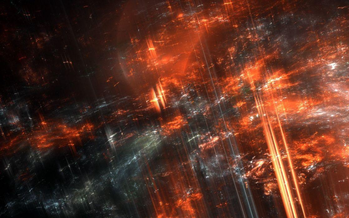 cg digital art lava volcano abstract fractal fire dark wallpaper