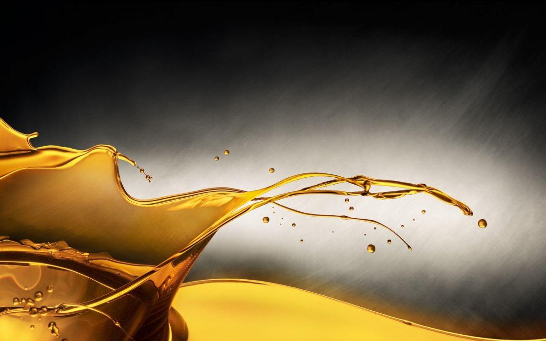 cg digital art oil drops 3d wallpaper