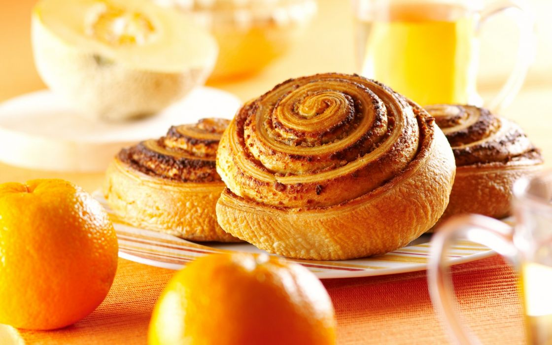 food scones pastry sweets breakfast orange wallpaper