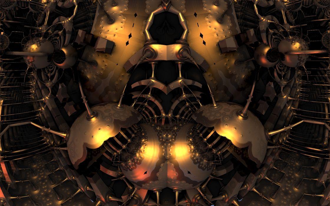 fractals digital art 3d cg wallpaper