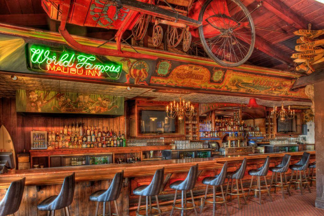 Interior Chairs Wooden Design HDR Bar wallpaper