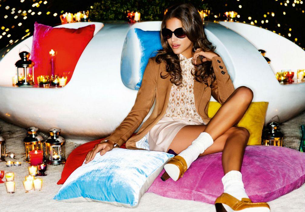 Janini Milet glasses women models fashion glamour brunettes sexy babes girls wallpaper