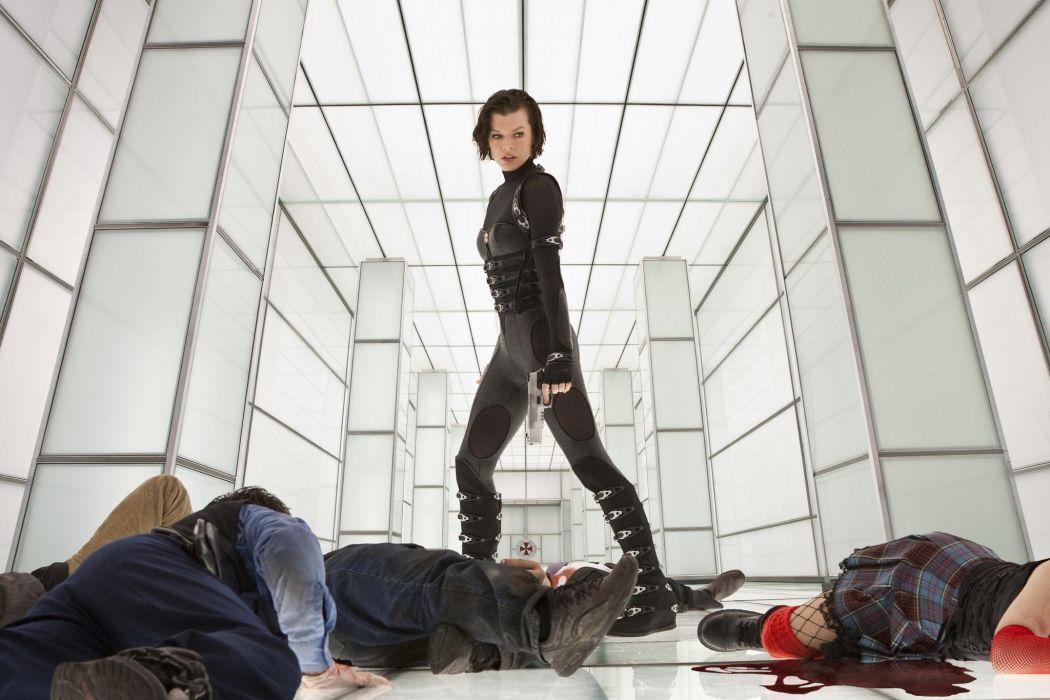 Milla Jovovich In Resident Evil Retribution dark horror     l wallpaper
