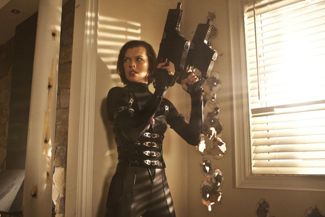 Milla Jovovich In Resident Evil Retribution dark horror   g wallpaper
