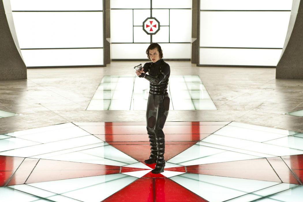 Milla Jovovich In Resident Evil Retribution dark horror wallpaper