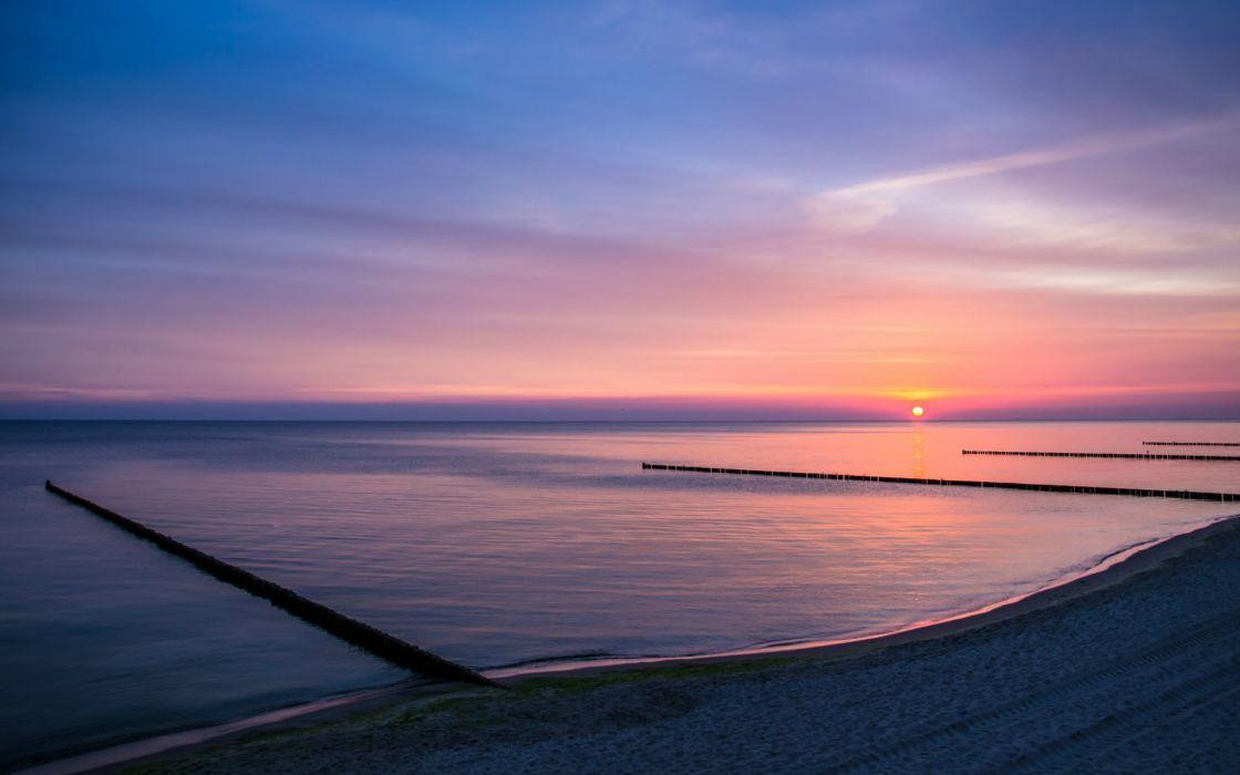 nature beaches lakes sky sunset sunrise wallpaper
