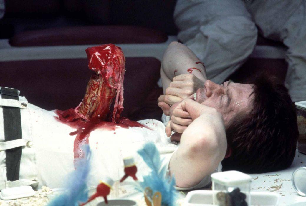 John Hurt In Alien drak horror sci-fi wallpaper