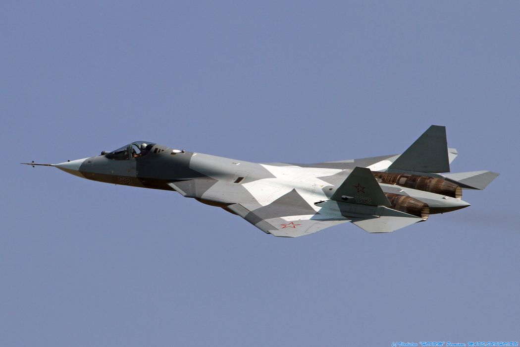 PAK FA T-50 fighter jets military air force flight fly weapons wallpaper