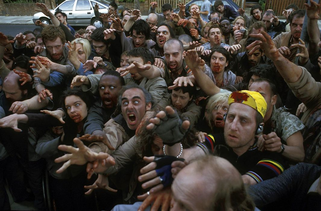 Shaun The Dead dark horror zombies wallpaper