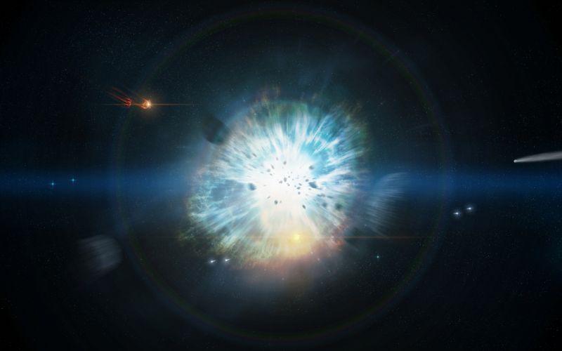 Supernova Stars Explosion sci-fi space stars wallpaper