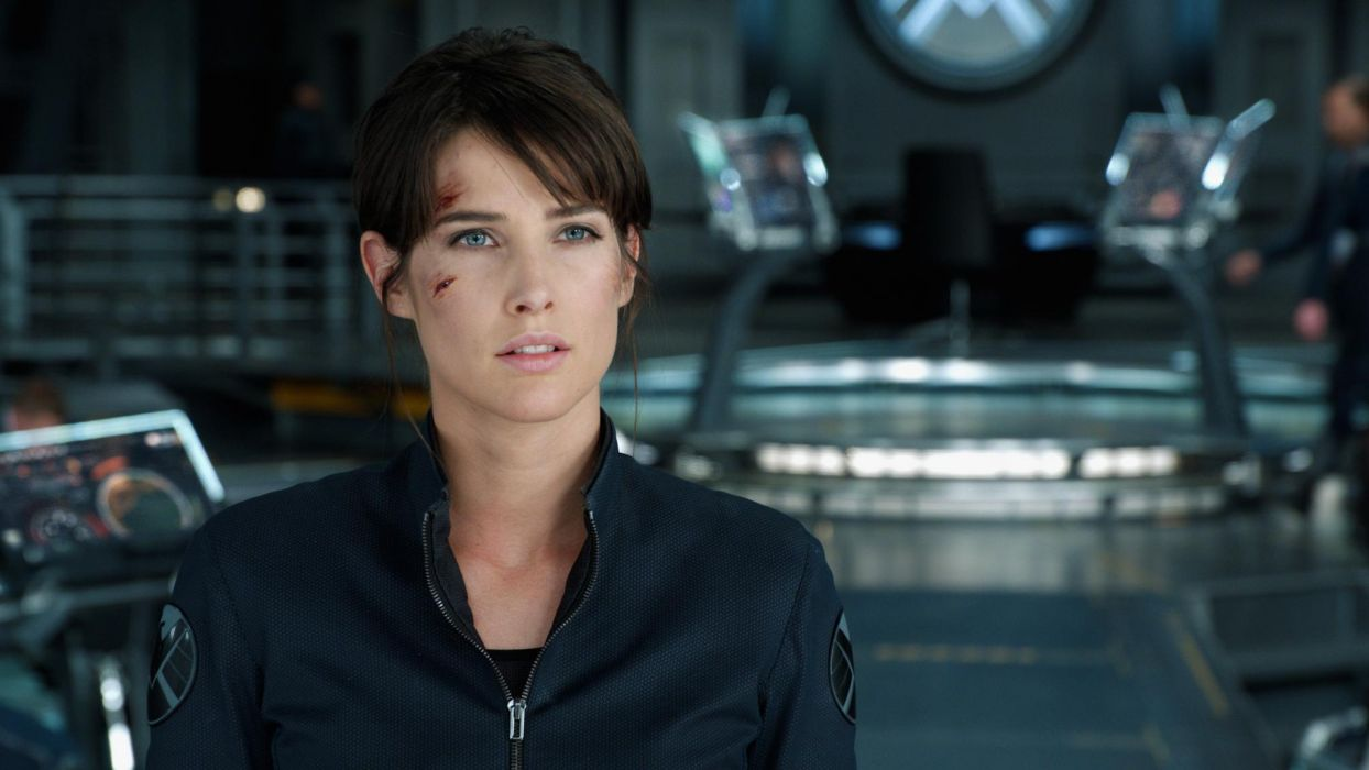 Cobie Smulders The Avengers comics movies actress women females face eyes wallpaper