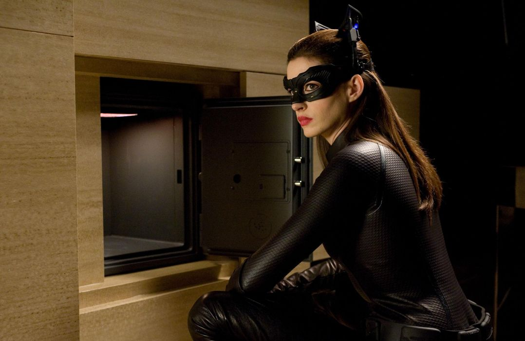 Anne Hathaway Dark Knight Rises movies actress mask women females babes sexy batman wallpaper