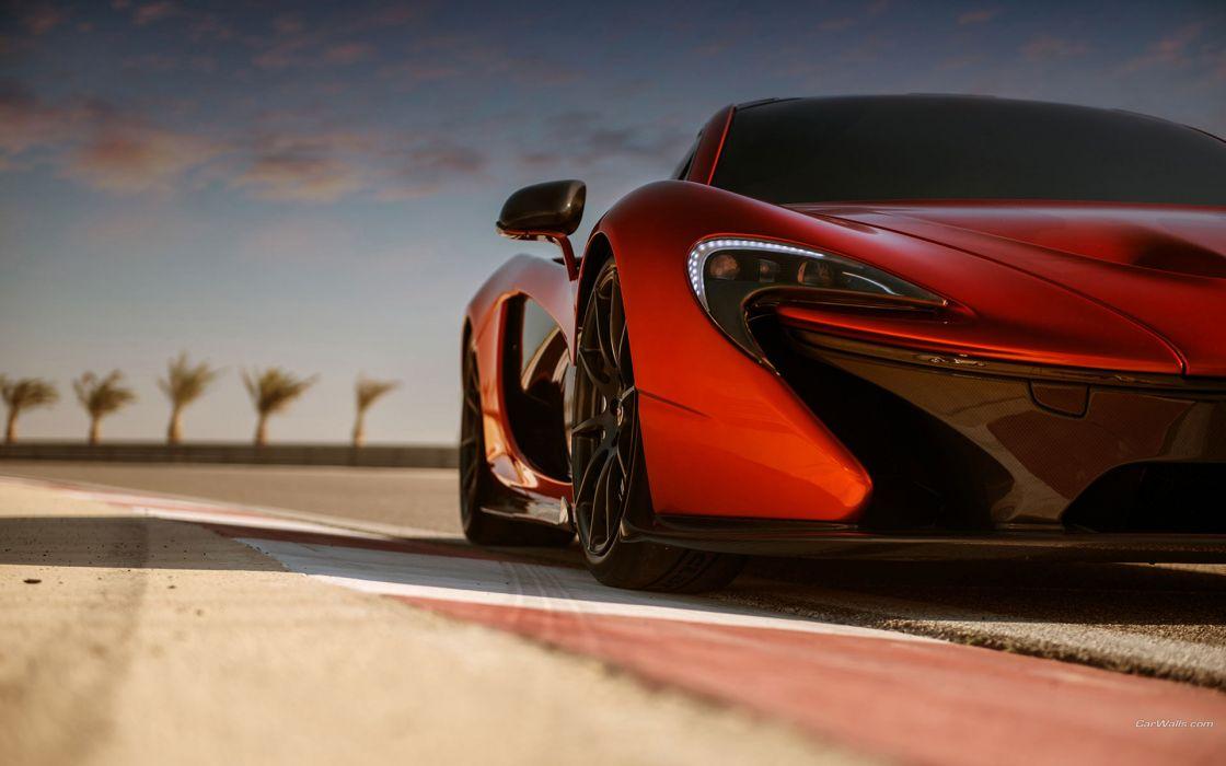 Headlight McLaren P1 supercars wallpaper