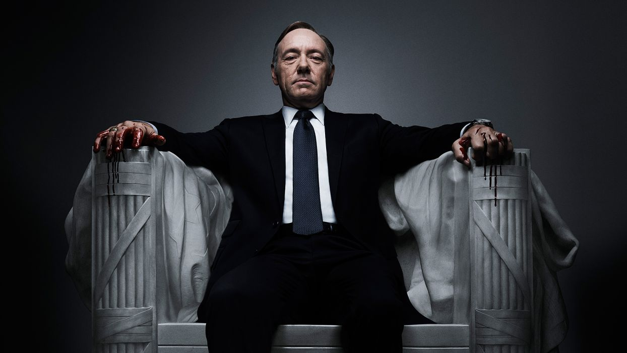 House of Cards Blood Kevin Spacey Suit tv series television men males actor dark political thriller wallpaper